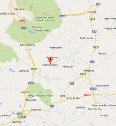 mapa, finca el Rabilargo