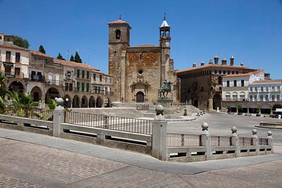 Plaza mayor, Trujillo, Extremadura