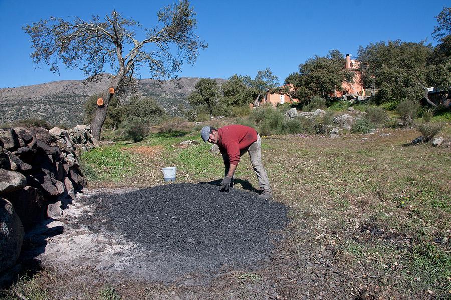picón, houtskool, Extremadura